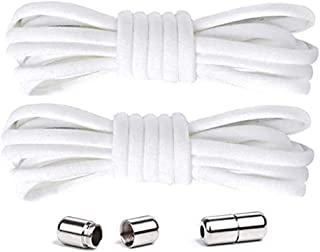 DELFINO [1 Pair - 2 Pcs] Shoelace No Tie Elastic Shoelaces for Users with Limited Finger Strength Hand Kids Adults Elderly...