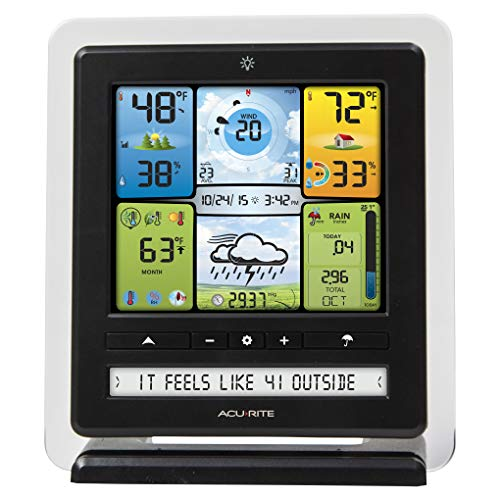 Product Image 2: AcuRite 02064 5-in-1 Color Station with Weather Ticker and Future Forecast, White, Black