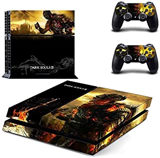 Dark Souls 3-Designer Skin for Sony PlayStation 4 Console System plus Two(2) Decals for: PS4 Dualshock Controller by Bestlovelin [並行輸入品]