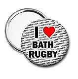 I Love Bath Miroir de poche de rugby pour sac à main Cadeau d'anniversaire
