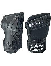 Killer Pads Equipo de protección Wrist Guard Derby, Todo el año, Unisex, Color Negro - Negro, tamaño Large
