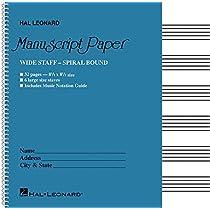 Wide Staff Manuscript Paper: Aqua Cover