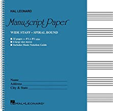 Wide Staff Wirebound Manuscript Paper (Aqua Cover)