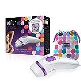 Braun Silk-expert 3 BD 3006 IPL - Depiladora con tecnología IPL segura para una depilación duradera para mujeres y hombres, color blanco y morado
