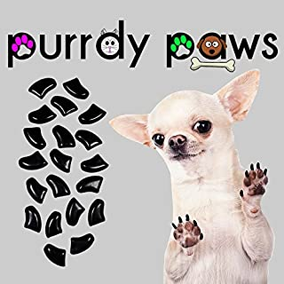 Purrdy Paws 40-Pack Soft Nail Caps for Dogs Claws Black