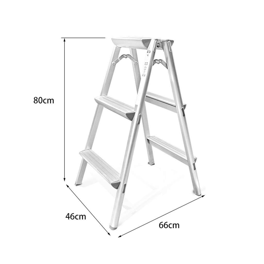 GY Escalera Taburete Plegable Aluminio Espesamiento del hogar Espiga Decoración Bisagra Proyecto Escalera de Escalada, 80X46X66cm, 122X46X66cm (Size : 80X46X66cm): Amazon.es: Hogar