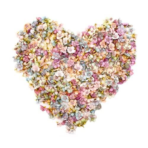 Künstliche Blumen, THETAG 100 Stücke Gänseblümchen Blütenköpfe Mini Kunstblumen Bunt Mini Seidenblumen, Kunstblumen Köpfe Deko für Hausgarten Hochzeit Feste Partei Haus DIY Basteln Scrapbooking
