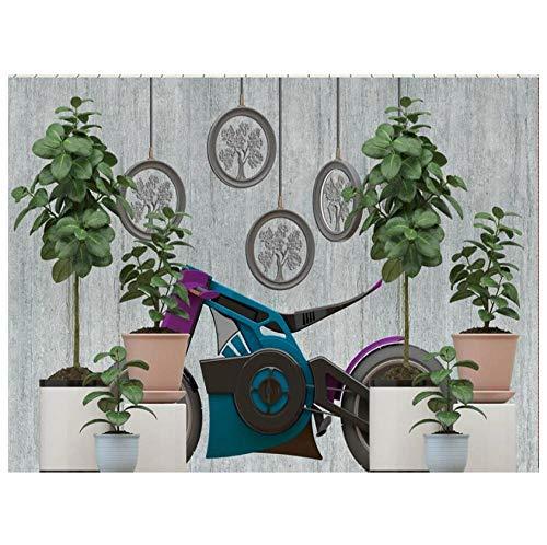 Muursticker groene bloempot, geometrisch rond 3D-wandbehang, PVC, afneembaar, zelfklevend, slaapkamer, woonkamer, achtergrond wanddecoratie 200(w) x140(H) cm