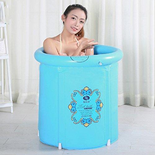 Meters Gonflable baignoire adulte isolation bébé natation seau pliable bleu clair ( taille : 58*65cm )