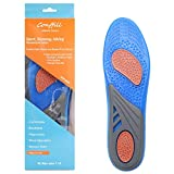 Sport Insoles for Women Man Hiking Running Shoes Work Boot Inserts Shock Absorption Reduce Muscle Soreness and Strain, Prevent Injury of Knee Heal, Shin Splints
