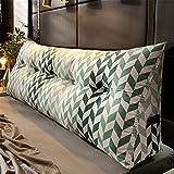 ZZKD Dreieck Abnehmbare Bett Kissen rückenlehne kopfkissen Weiches Tatami Lesung Rückenlehne Polster Sofa Bett Rückenlehne KeilkissenC-120x23x50cm(47x9x20inch)