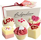 BRUBAKER Cosmetics 6 Handmade'Wild at Heart' Spa Bath Bombs Bath Melts Bath Truffles Gift Set - All Natural Vegan, Organic Shea Butter, Cocoa Butter and Olive Oil Moisturize Dry Skin
