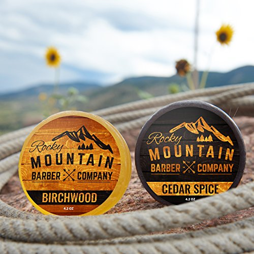 Savon pour Homme 100% Naturel Épice de Cèdre et Birchwood Rocky Mountain Barber Company - 4