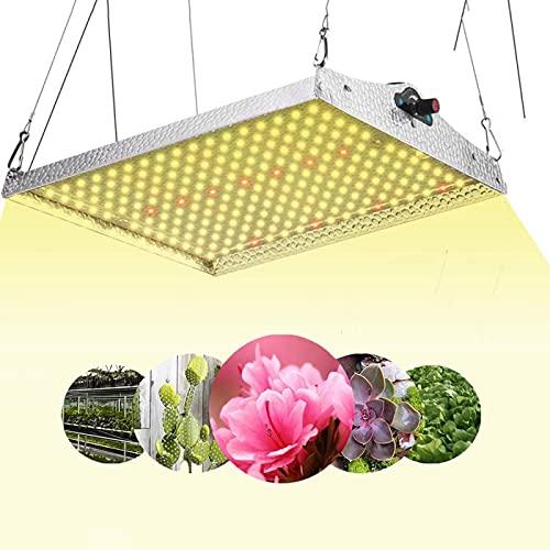 CDPC Luz de Cultivo LED, 100W para Colgar en Interiores Planta de Invernadero Crecimiento de luz de Relleno Luz de Planta para hidroponía Invernadero Planta de semillero Vegetales y Flores
