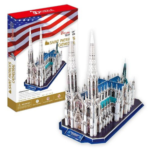 3D three-dimensional puzzle St. Patrick's Cathedral (japan import)