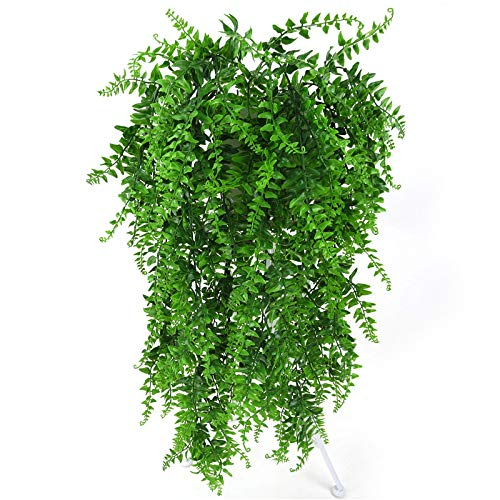 Kunstplanten - 85cm 5 Ks Perzische Varen Boom Bladeren Groene Simulatie Plant Nep Rotan Home Decoratie - Boston Mos Keuken Buiten Echte Garland Palm Pack Mand Tropische Lente Natu