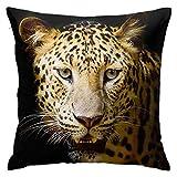 Lewiuzr Funda De Cojín Clásico,Animal Leopardo Guepardo,Almohada Cubierta Moderna Funda De Almohada Decoración para El Hogar,45 x 45 cm