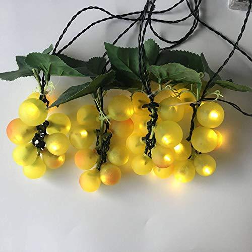 Solar Lichterkette,80LED Traube Lichterkette Solar Lichterkette Für Innen- Outdoor Festival Dekorative Lichter-Warmweiß