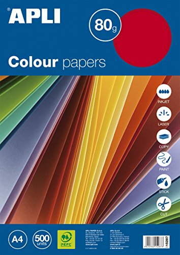 10 Colores de Tonos Fuertes por 10 Hojas Papel A4 80 Gramos Tauro-Extra 100 Hojas