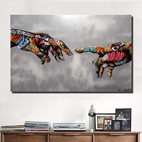 Abstrakte Kunst Hand Classic Street Art druckt Bilder für Wohnzimmer Leinwanddrucke moderne dekorative Malerei