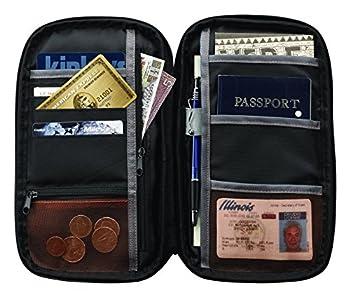 Lewis N Clark Rfid Blocking Document Organizer Passport & Id Case Holder Wallet