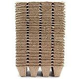 BOTEGRA Bandejas de germinación, Papel Reciclado Semilla Vaso de vivero Celdas biodegradables Pulpa Turba Ollas Permeabilidad al Aire Orgánico para Exteriores Plantas de Interior