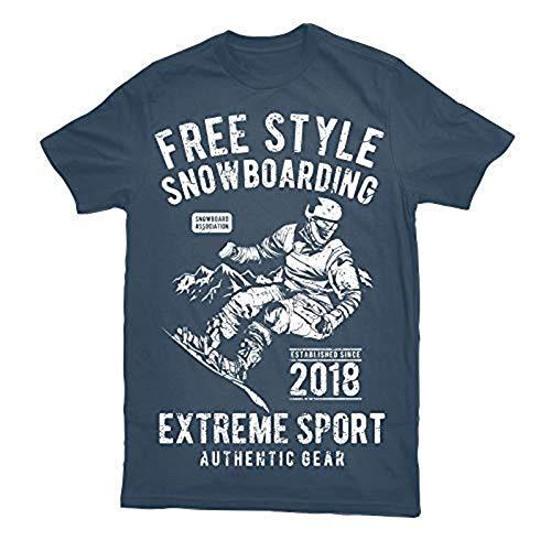 1 stuk T-shirt vintage free stijl snowboarding jag cadeau verjaardag tip!
