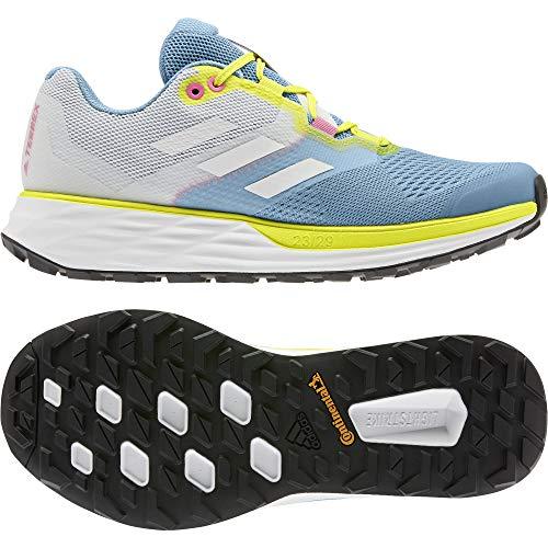 adidas Terrex Two Flow W, Zapatillas de Trail Running Mujer, AZUBRU/Balcri/AMAACI, 41 1/3 EU