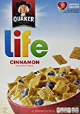 Quaker, Life Cereal, Cinnamon Multigrain Cereal, 18oz Box (Pack of 4)