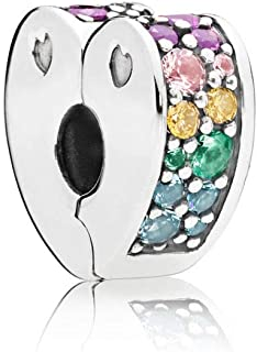 Arcs of Love, Multi-Colored Cubic Zirconia and Crystals, 797020NRPMX