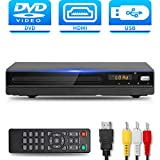 DVD Player with HDMI AV Output, DVD Player for TV, Contain HD with Coaxial Output/AV Cable/Remote Control/USB Input, Region Free Home DVD VCR Players, Tojock