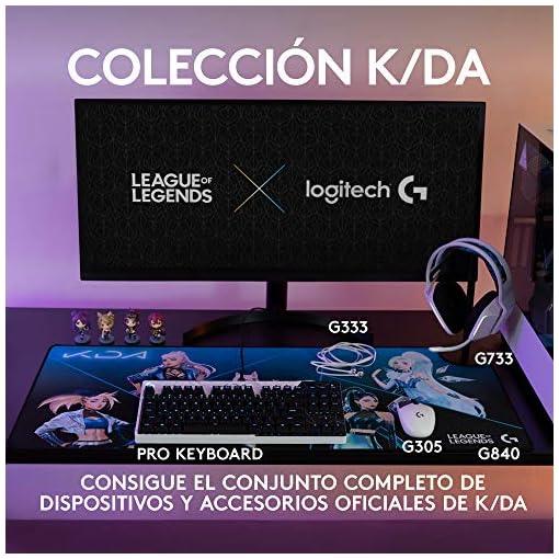 Logitech G840 K/DA XL Alfombrilla de ratón para Gaming, 3 mm de Grosor, Base de Goma Estable, Equipo de Juego Oficial de… 3
