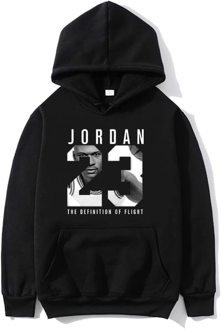23 # Jordan Camiseta de baloncesto Hip Hop Plus Velvet Hombres Suéter, Impreso Casual Jersey, Manga Larga Juventud Popular, Sudadera Suelta Popular, ...