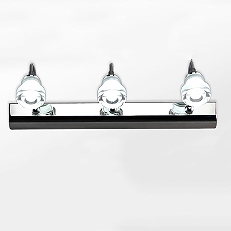 LJHA jingqiandeng Moderne Einfache LED Spiegel Frontleuchte Edelstahl Bad Make-Up Spiegel Schrankleuchten Schlafzimmer Wandleuchte Bad Wandleuchten (Farbe   Warmes Licht-32cm)