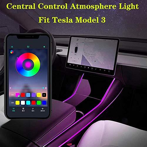 Atmósfera de luz del Interior del Coche Tira de luz LED con luz App Controller Multi Color LED Accesorios modificación para Tesla Model 3