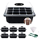 YAUNGEL Seed Trays, 6 Pack 72 Cells Propagator Growing Thicken...