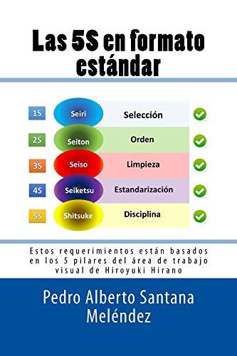 Las 5S en formato estándar: Estos requerimientos están basados en los 5 pilares del área de trabajo visual de Hiroyuki Hirano de [Pedro A. Santana Meléndez]