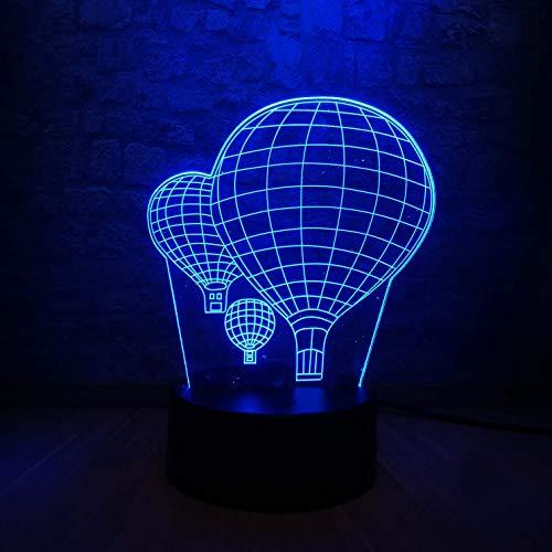 3D-Illusionslampe Heißluftballon 3D-LED USB-Nachtlicht Tischlampe Farben Farbverlauf Kreative Luminaria Optische Illusionslampe Home Dekorative Geschenke