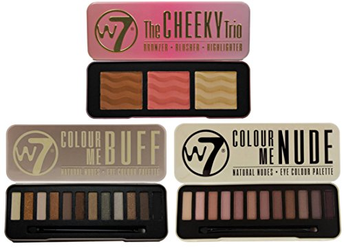 W7 In The Buff Natural Nudes, In The Nude Eye Shadow Palette & Cheeky Trio Set