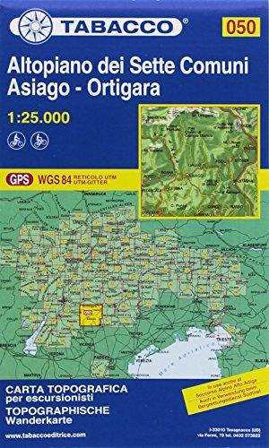 Tabacco Wandern 1 : 25 000 Altopiano dei Sette Comuni [Lingua inglese]: 050
