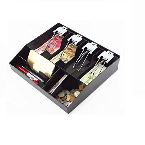 GUANHE Nuova casella per registratore di cassa Nuovo negozio di classificazione Cashier gettone Cassetto cassa cassetto per cassetto 31.8x27.5x6cm (clip in metallo)
