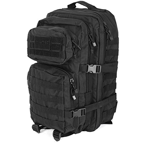 Patrol MOLLE US Army Assault Pack Tactical Rucksack Backpack Bag 50L Black