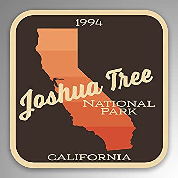 JMM Industries Joshua Tree National Park Vinyl Decal Sticker Car Window Bumper 2-Pack 4-Inches by 4-Inches Premium Quality UV Protective Laminate NPS093