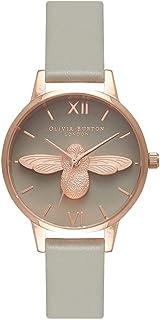 Olivia Burton Womens Quartz Watch, Analog Display and Leather Strap OB15AM77