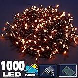 Bakaji Catena Luminosa 1000 Luci LED 55 Metri con Controller 8 Funzioni Impermeabile IP44 per uso Interno...