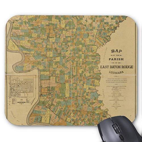 Parish of East Baton Rouge, Louisiana Map (1895) Mauspad Computer Mousepad 300 * 250 * 3mm