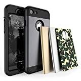 TOTU iPhone 7 Case Water Resistant Shock Absorbing Falling Preventing Protective Case Best Heavy Duty 4 Interchangeable Covers for Apple iPhone 7 4.7 inch