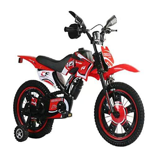 Kids Bike Jongens Meisjes Freestyle Fiets 12 16 Inch met Training Wheels Quality Children's Motorcycle Fietsen,Red,16inch