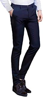 Howely Mens Casual Loose Business Pockets Cotton Straight Dress Pant