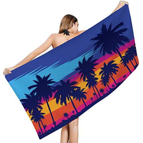 Schnelltrocknende, sonnenbeschienene, seidig, weiche, sandfeste Sanddecke für Strandpartys, Reisen, Camping und Musik im Freien (Farbe: C9, Größe: 31,5 x 63 Zoll)